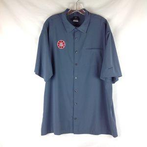 Arizona Wildcats Nike Dri Fit Button Up Shirt L